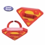 """Superman """"S"""" Shield Party Cupcake Rings 12 Pack"""