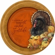 "Thanksgiving Bastin Big Thanks 10"" Banquet Plates 8 Pack"
