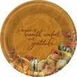 "Thanksgiving Bastin Big Thanks 7"" Dessert Plates 8 Pack"