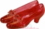 Wizard of Oz Ruby Slippers Clear Resin Figurine