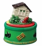 Wizard of Oz™ Be Gone Wicked Witch with House Mini Musical Figurine