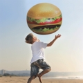Giant Burger Inflatable Beach Ball