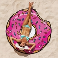 Giant Pink Donut Beach Blanket