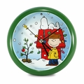 Peanuts Holiday Dog House Clock - 8 inch