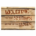 Personalized We're in the Barn Doormat