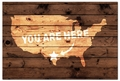 Personalized You Are Here Map Door Mat