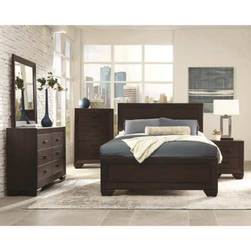 ... 4PC queen size bedroom set 204391 on sale bedroom VA furniture stores