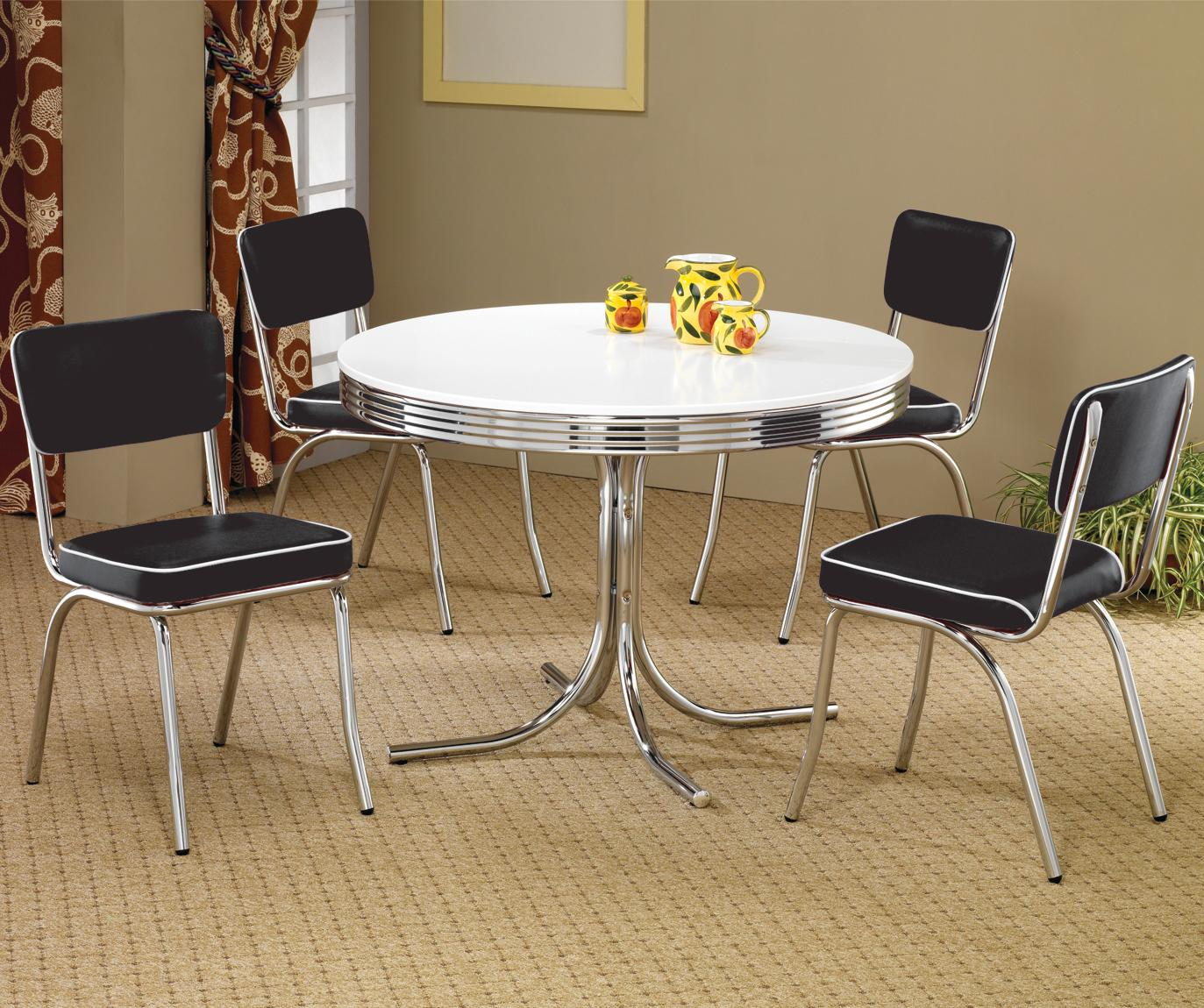 modern 3 pc dining set table 2 stool va furniture stores