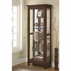 5 Shelf Curio Cabinet with Mirrored Back & Can Lighting