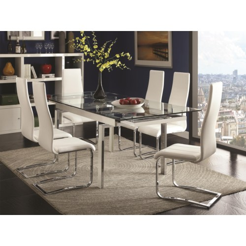 Contemporary 5PC Dining Room Set Side Chairs 106281 Ashburn VA On Sale Bedroo