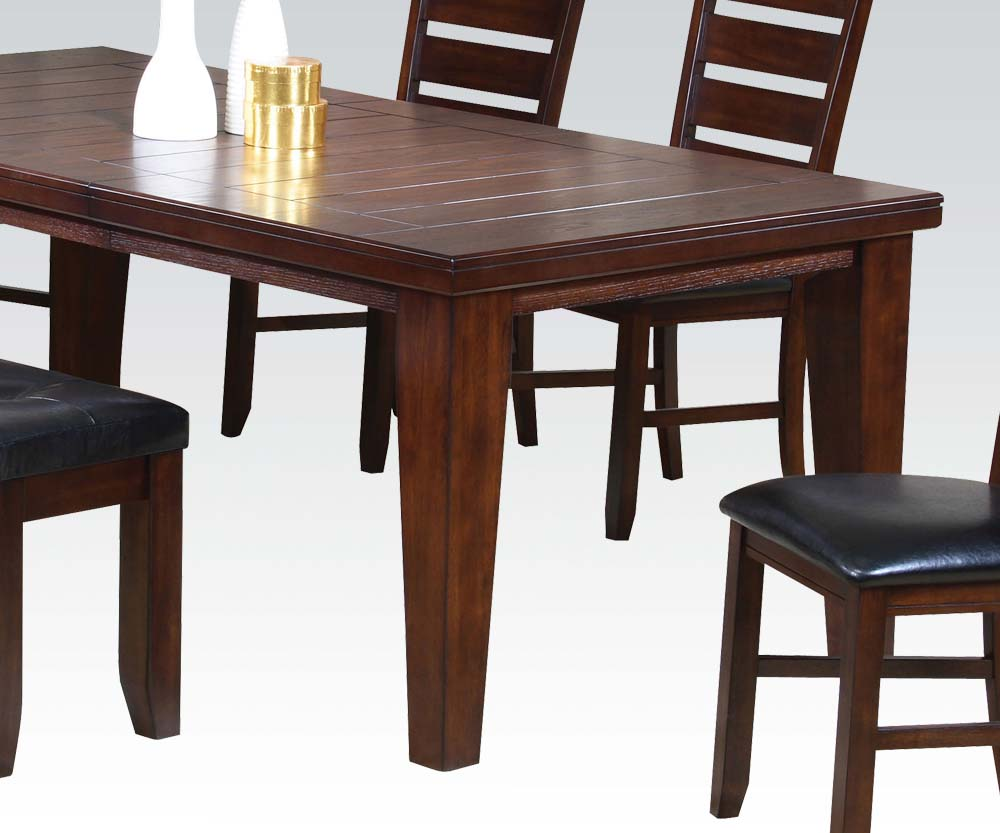 6 PC Dining Set table 4 chairs and bench room furniture  : 6 pc urbana dining set table 4 side chairs and bench 3 from galafutonsandfurniture.com size 1000 x 833 jpeg 98kB
