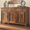 Accent Cabinets Rustic Cabinet w/ Doors