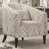 Accent Seating Curved Upholstered Chair with Pillow