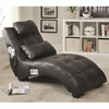 Accent Seating Upholstered Chaise with Lumbar Pillow and Bluetooth