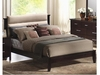 Kendra Queen Style Bed with Upholstered Microfiber Headboard