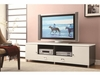 Contemporary TV Console with Chrome Hardware
