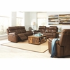 Damiano Casual Faux Leather Reclining Sofa with Button Tuft Detailing