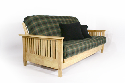 Traditional Arial Wall Hugger made in USA full size futon