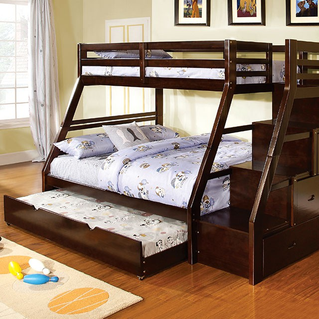 Bedroom Set Bunk Bed CM BK611EX Twin Twin Bunk Bed Trundle Bed