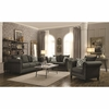 Emerson Transitional Rolled Arm Sofa with Pewter Nailheads
