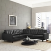EMPRESS 3 PIECE LEATHER SECTIONAL SOFA SET