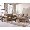 Made IN USA Fairhaven Cream Colored U-Shaped Sectional with Chaise