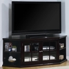 Fullerton Transitional Corner Media Unit with Glass Doors