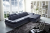 J&M 1799 Premium Modern Leather Sectional