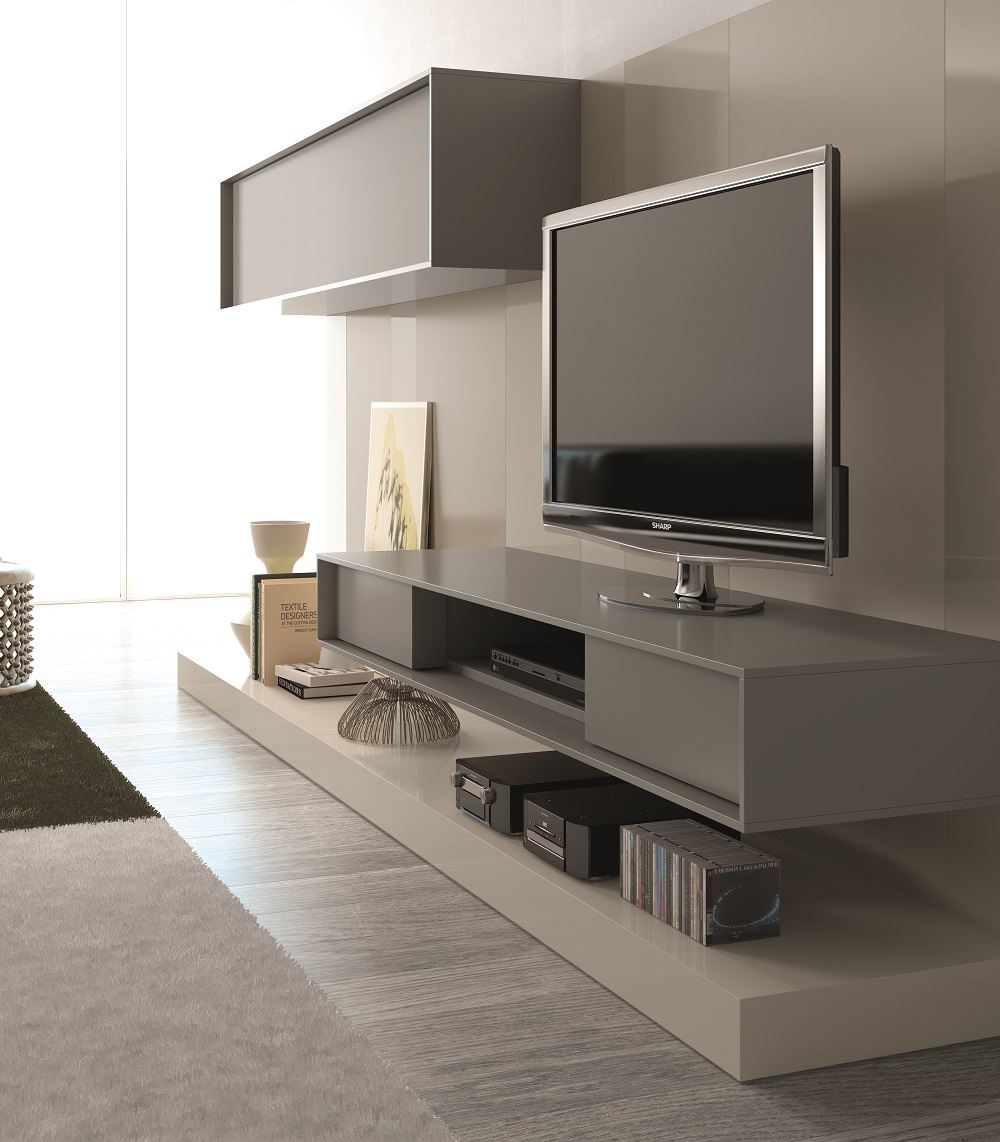 Floating Media Cabinet. Floating Cabinets Family Room Modern With ...