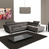 J&M Sparta Italian Leather Sectional