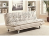 Kay Sofa Bed with Script Pattern and Metal Legs
