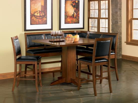 Counter Height Corner Dining Set : Modern 5PC corner counter height high quality dining room table 4 ...