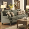 Rosenberg Traditional Rolled Arm Sofa with Subtle Wing Back and Nailheads
