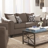 Made In USA Salizar Grey Sofa with Flared Arms