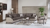 Trento Sectional Sleeper living room with storage
