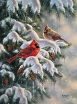 """Abraham Hunter Limited Edition Embellished Canvas Giclee:""""Holiday Greetings"""""""