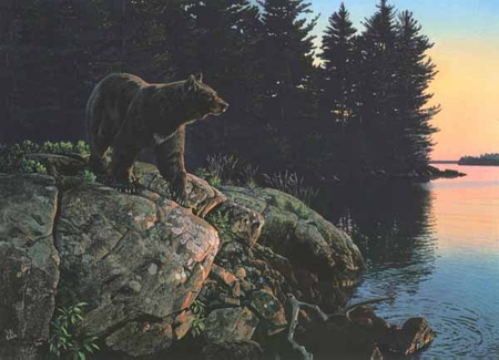 """Al Agnew Handsigned & Numbered Limited Edition Print:""""Evening Calm """""""