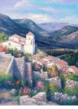 "Alex Perez Hand Signed and Numbered Limited Edition Oil on Canvas: "" Basilicata - North Italy """