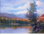 "Alex Perez Hand Signed and Numbered Limited Edition Oil on Canvas: "" Riverside Village """