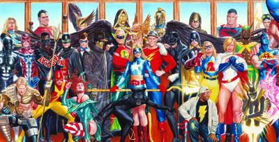 "Alex Ross Handsigned and Numbered Limited Edition Giclee on Fine Art Paper:""The Justice Society - Generations"""