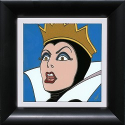 "Allyson Vought Handsigned and Numbered Framed Limited Edition Cuerda Seca Tile:""Evil Queen"""