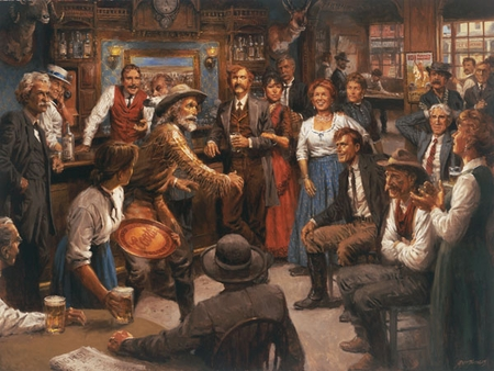 "Andy Thomas Hand Signed and Numbered Limited Edition Giclee Print: ""Tales of the Old West"""
