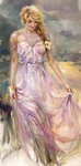 """Anna Razumovskaya Hand Signed and Numbered Limited Edition Artist Embellished Canvas Giclee:""""What Lies Ahead"""""""