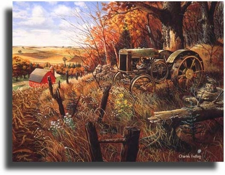 "Charles Freitag Limited Edition Giclee on Paper:""Out to Pasture"""