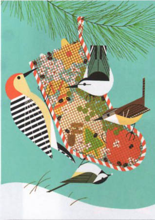 "Charley Harper Limited Edition Lithograph:""Backyard Birds"""