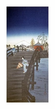 "Chowka Fine Art Open Edition Gicl�e:""Japanese Print (Yedo River in Tokyo)"""