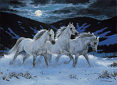 """Chris Cummings Limited Edition Print: """"Night Mares"""""""