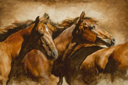 """Chris Owen Artist Hand-Signed and Numbered Limited Edition Giclee Print and Canvas:""""Together"""""""