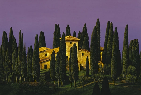 "Chris Young Handsigned and Numbered Limited Edition  Print:""Tuscan Villa """