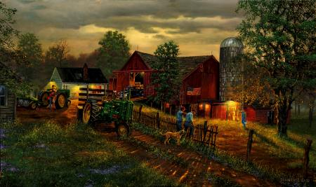 "Dave Barnhouse Hand Signed and Numbered Limited Edition Print ""America's Heartland """